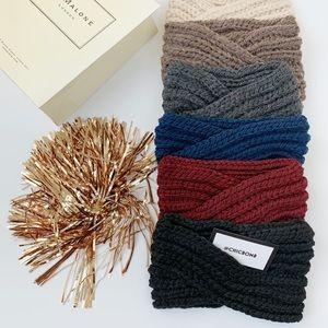 Chunky Knitted Winter Headband - Black